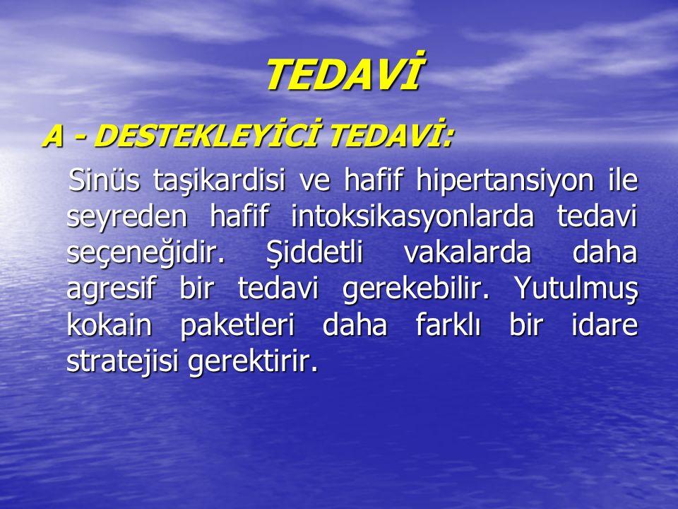 TEDAVİ A - DESTEKLEYİCİ TEDAVİ: