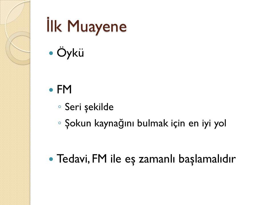 İlk Muayene Öykü FM Tedavi, FM ile eş zamanlı başlamalıdır