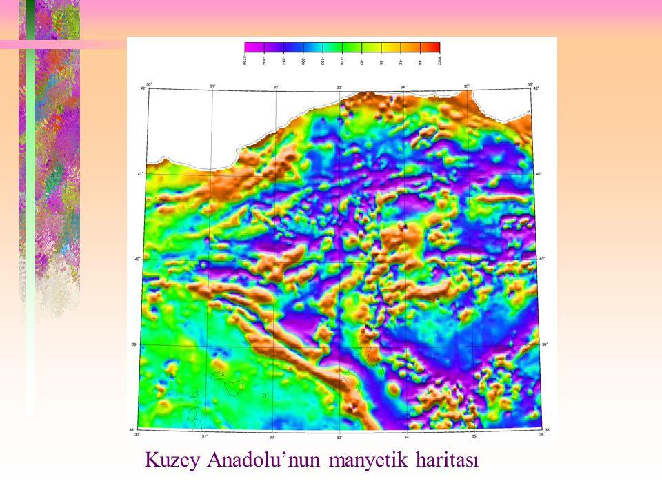 Kuzey Anadolu'nun manyetik haritası