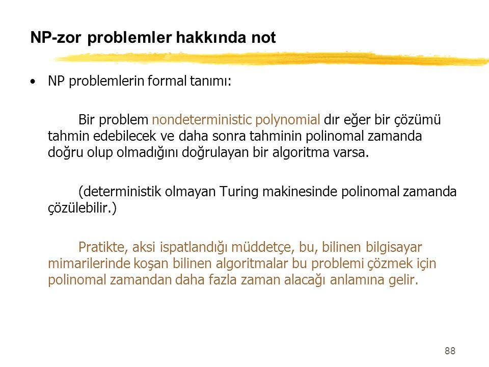 NP-zor problemler hakkında not
