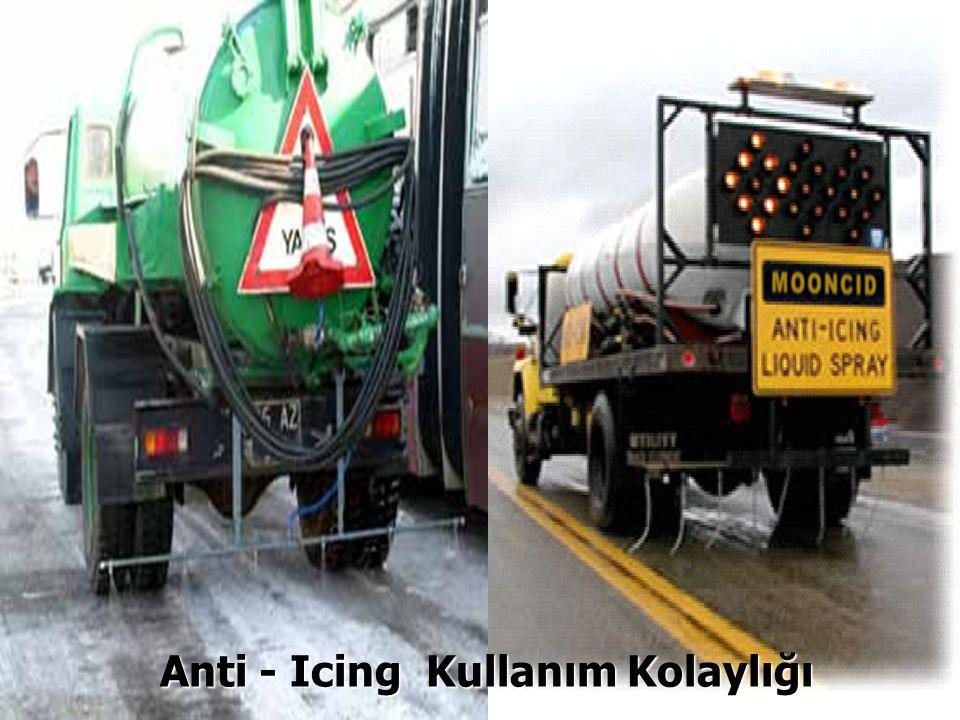 Anti - Icing Kullanım Kolaylığı