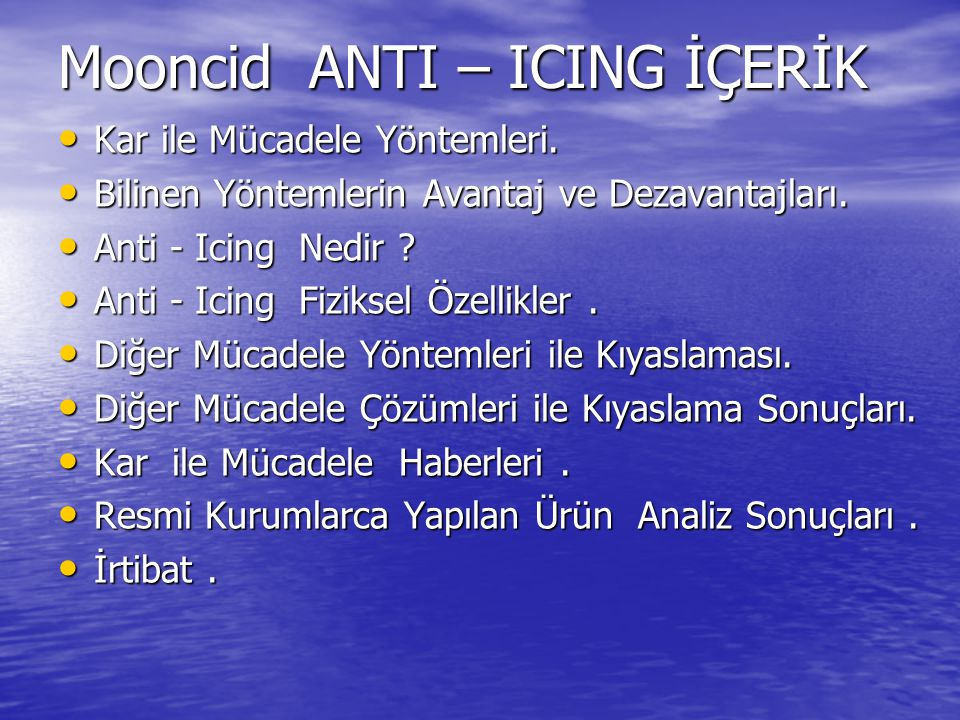 Mooncid ANTI – ICING İÇERİK