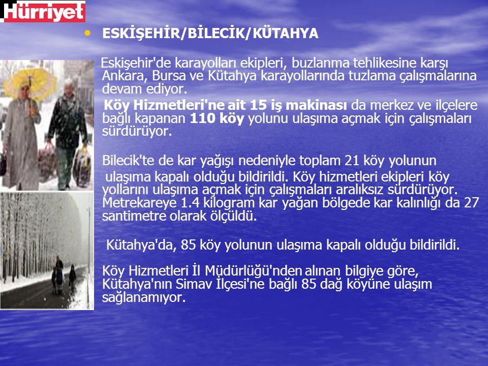 ESKİŞEHİR/BİLECİK/KÜTAHYA