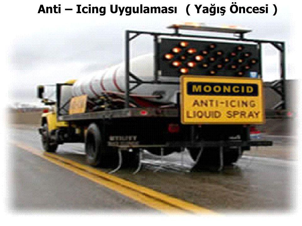 Anti – Icing Uygulaması ( Yağış Öncesi )