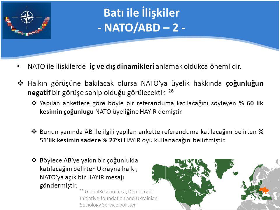 Batı ile İlişkiler - NATO/ABD – 2 -