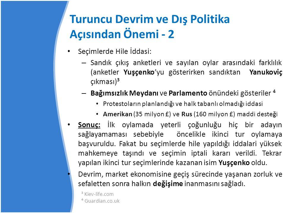 Turuncu Devrim ve Dış Politika Açısından Önemi - 2