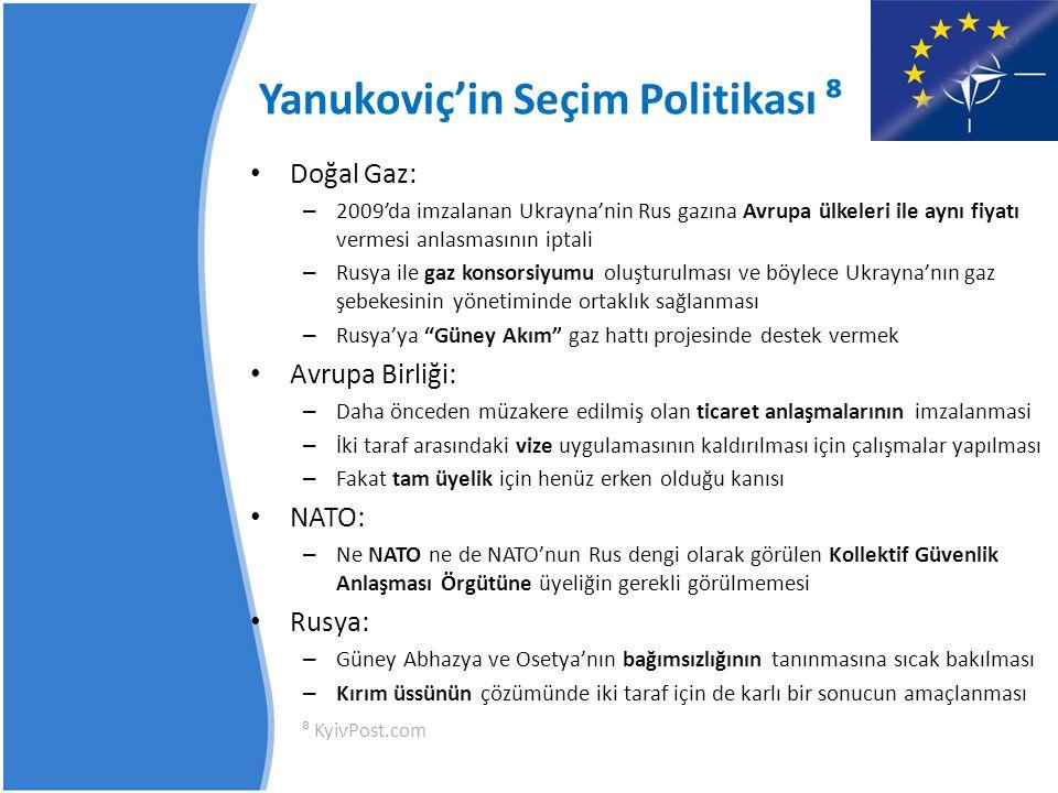 Yanukoviç'in Seçim Politikası ⁸