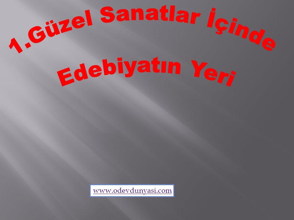 1.Güzel Sanatlar İçinde Edebiyatın Yeri www.odevdunyasi.com