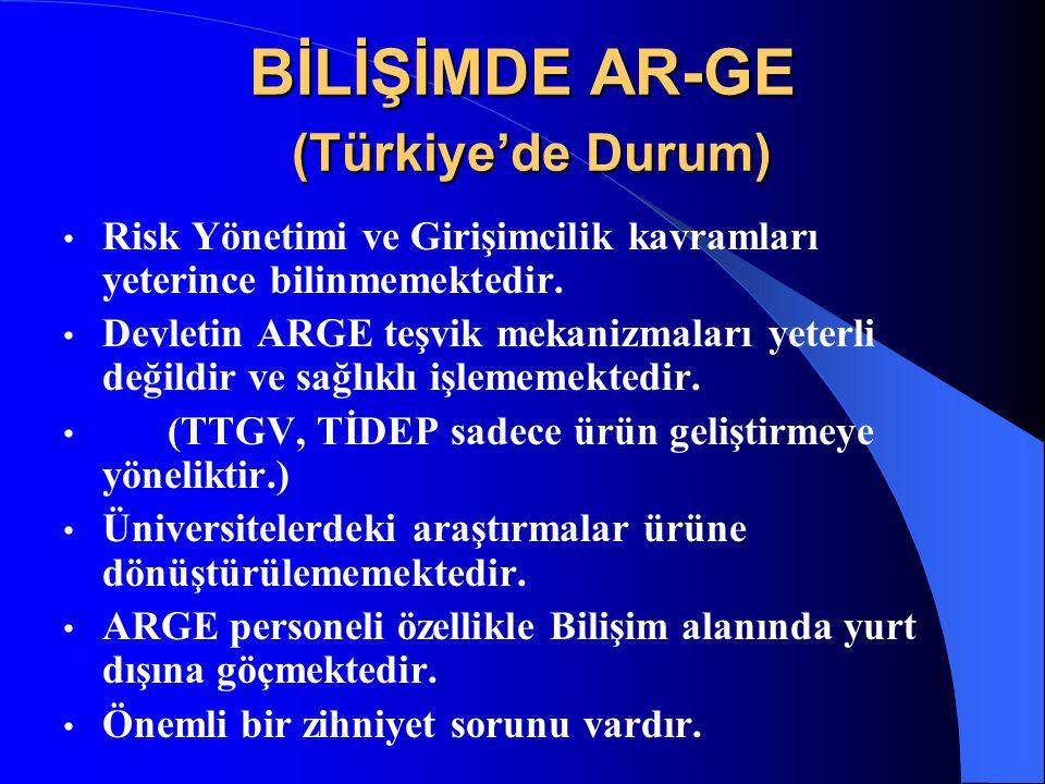 BİLİŞİMDE AR-GE (Türkiye'de Durum)