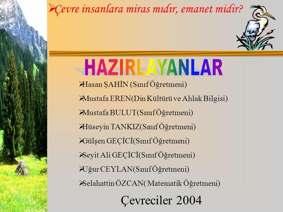 HAZIRLAYANLAR Hasan ŞAHİN (Sınıf Öğretmeni)
