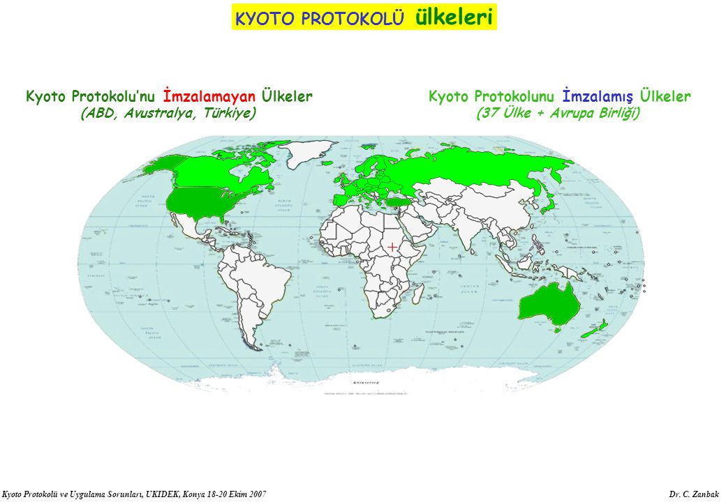 KYOTO PROTOKOLÜ ülkeleri