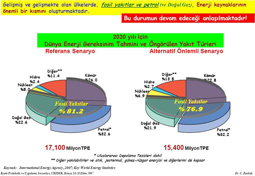 Dünya Enerji Gereksinim Tahmini ve Öngörülen Yakıt Türleri