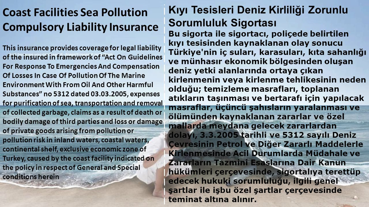Coast Facilities Sea Pollution Compulsory Liability Insurance
