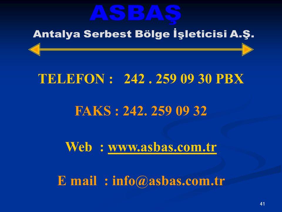 E mail : info@asbas.com.tr