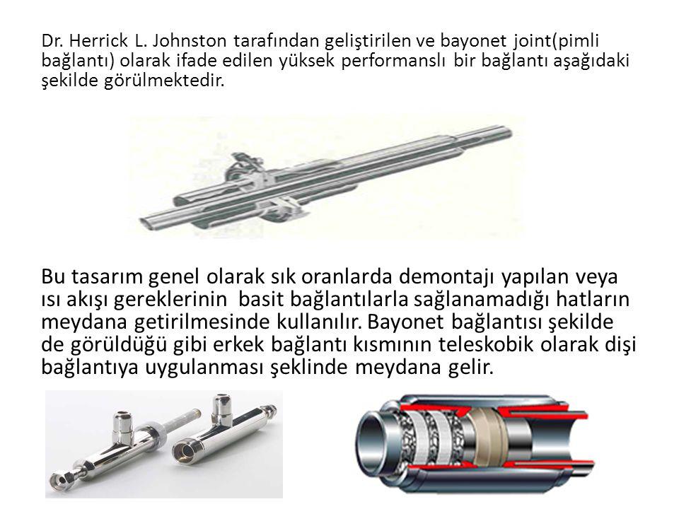 Dr. Herrick L. Johnston tarafından geliştirilen ve bayonet joint(pimli bağlantı) olarak ifade edilen yüksek performanslı bir bağlantı aşağıdaki şekilde görülmektedir.
