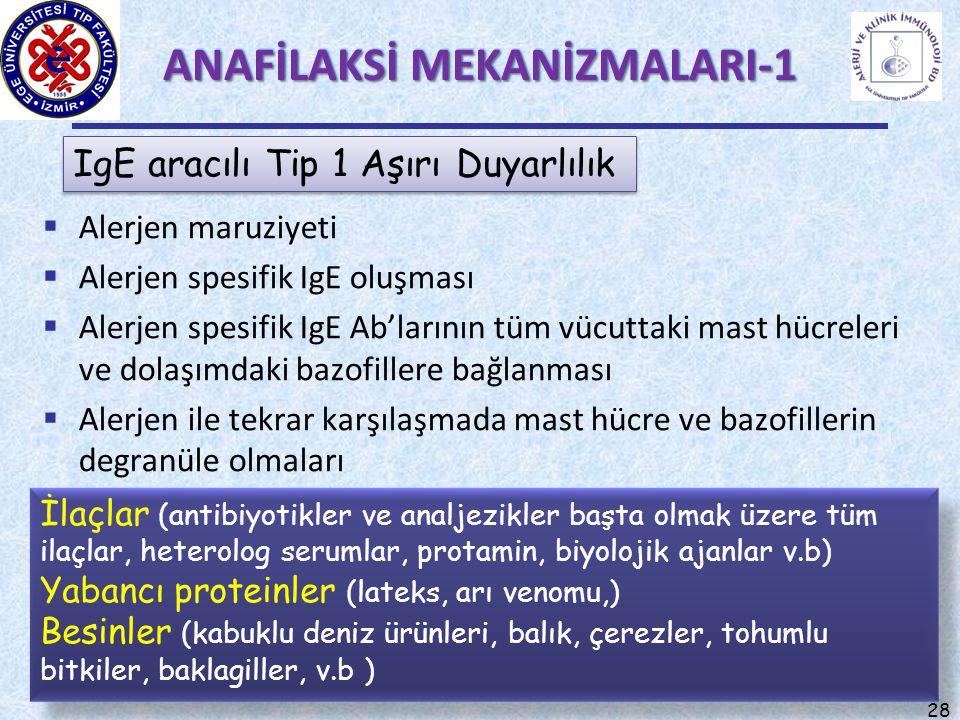 ANAFİLAKSİ MEKANİZMALARI-1