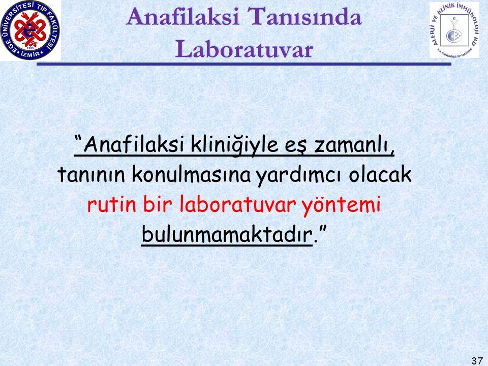 Anafilaksi Tanısında Laboratuvar