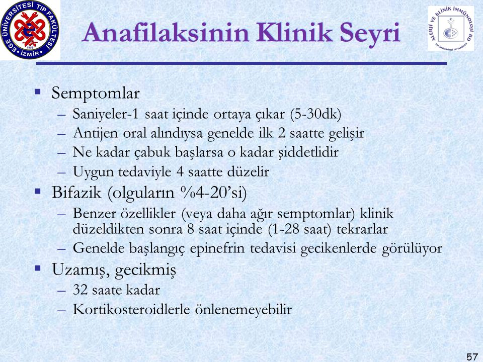 Anafilaksinin Klinik Seyri