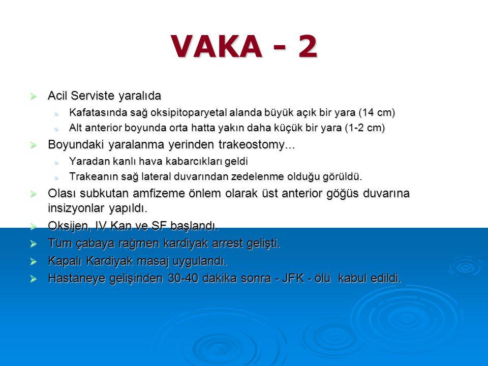 VAKA - 2 Acil Serviste yaralıda