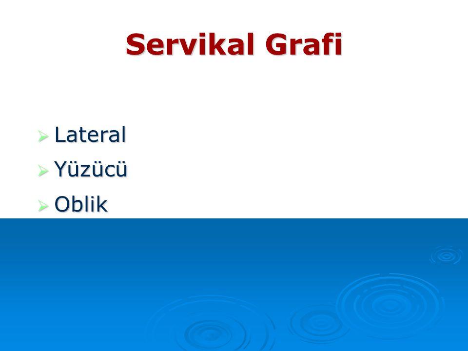 Servikal Grafi Lateral Yüzücü Oblik