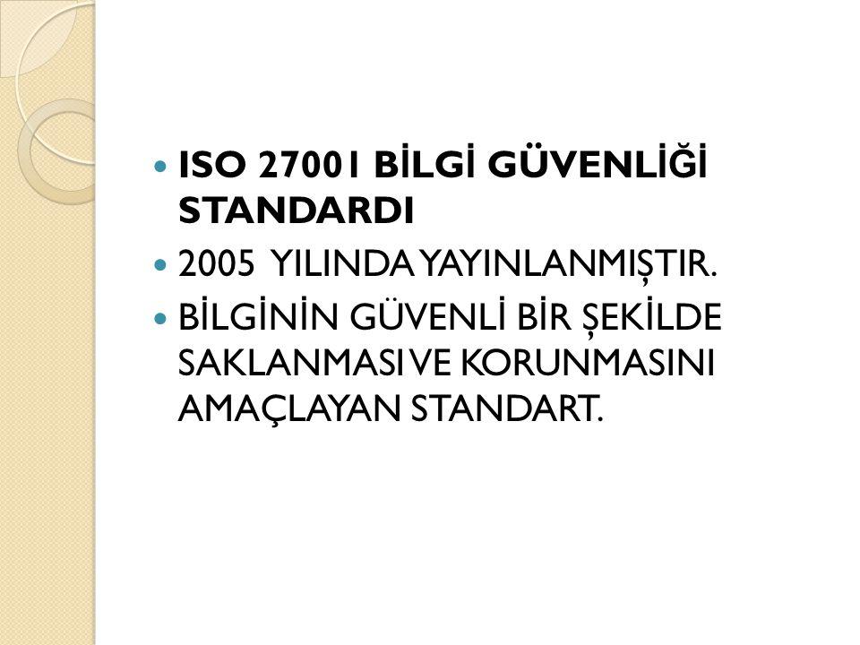 ISO 27001 BİLGİ GÜVENLİĞİ STANDARDI