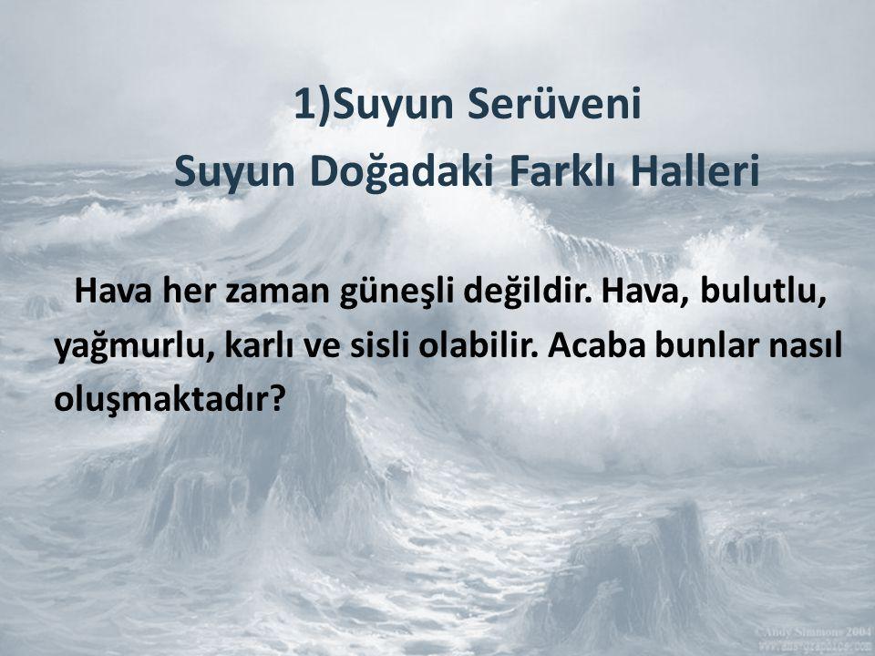 1)Suyun Serüveni Suyun Doğadaki Farklı Halleri