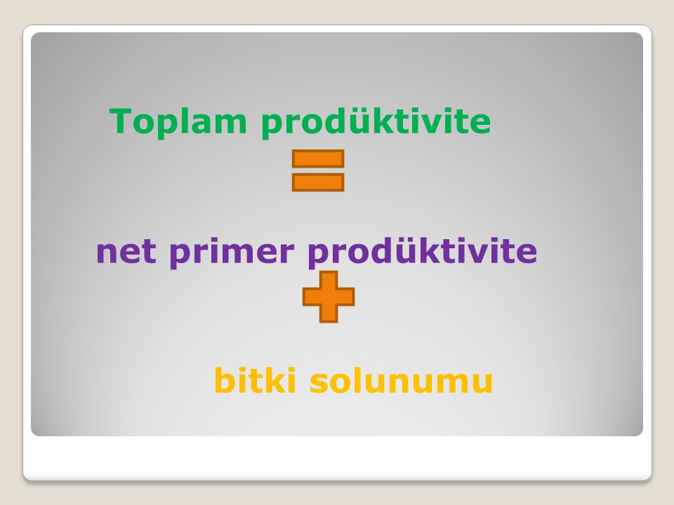 Toplam prodüktivite net primer prodüktivite bitki solunumu