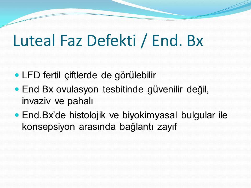 Luteal Faz Defekti / End. Bx