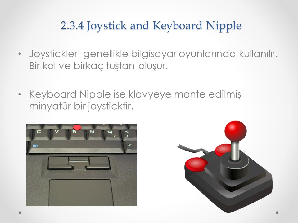 2.3.4 Joystick and Keyboard Nipple