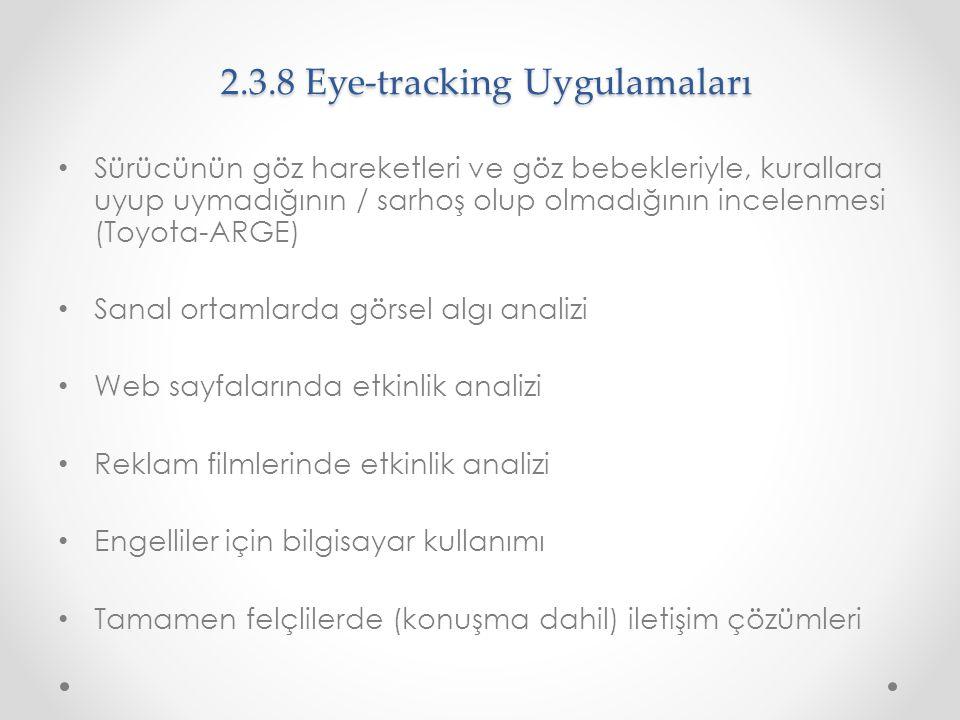 2.3.8 Eye-tracking Uygulamaları