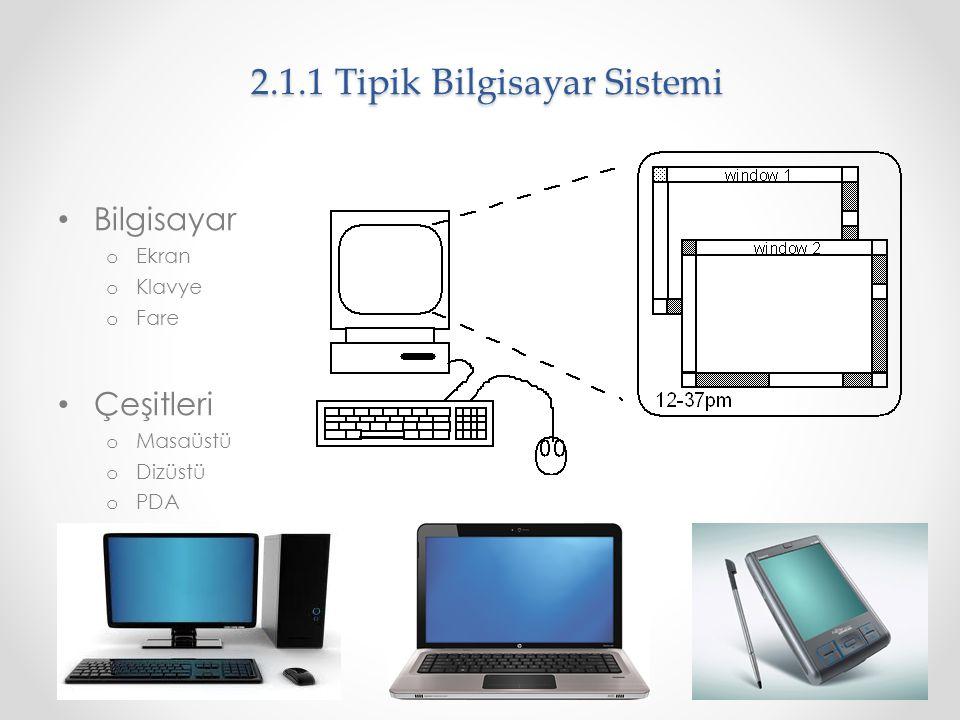 2.1.1 Tipik Bilgisayar Sistemi