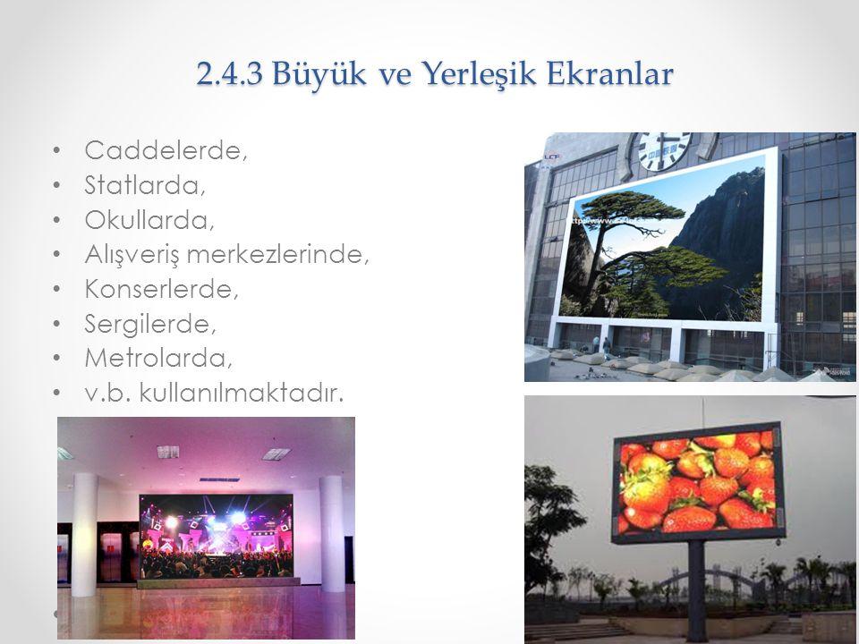 2.4.3 Büyük ve Yerleşik Ekranlar