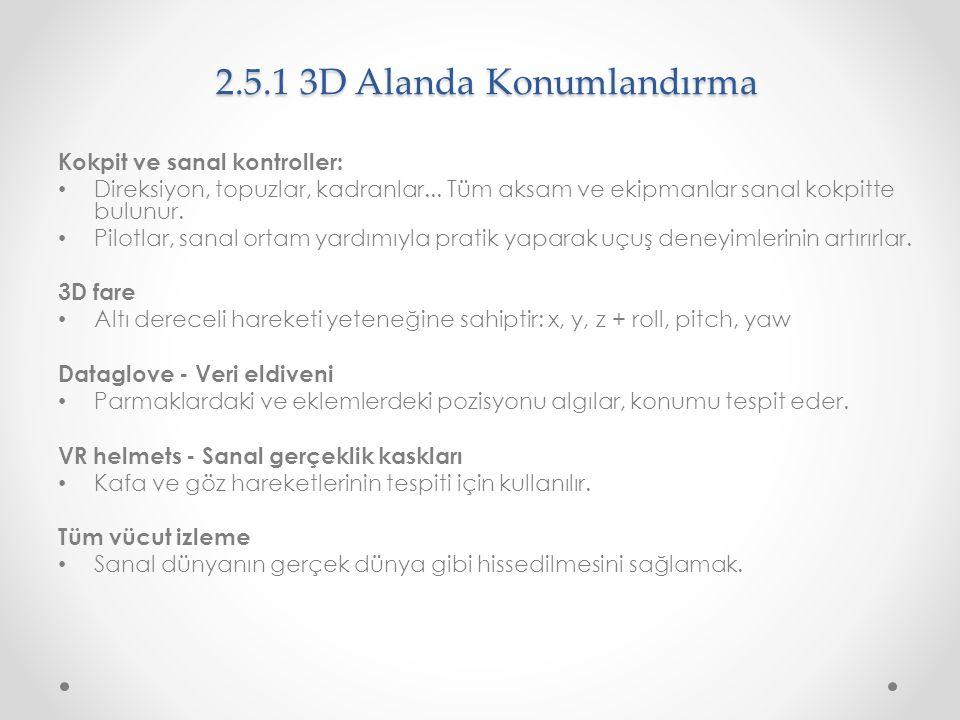 2.5.1 3D Alanda Konumlandırma
