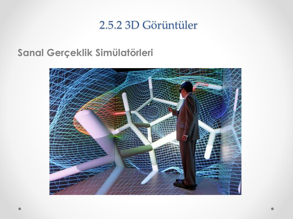2.5.2 3D Görüntüler Sanal Gerçeklik Simülatörleri