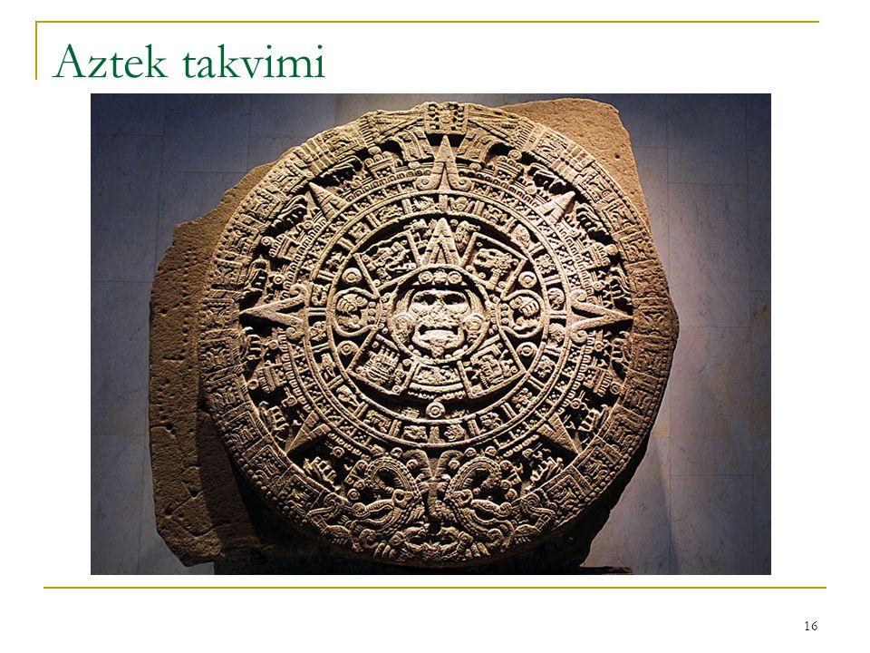 Aztek takvimi