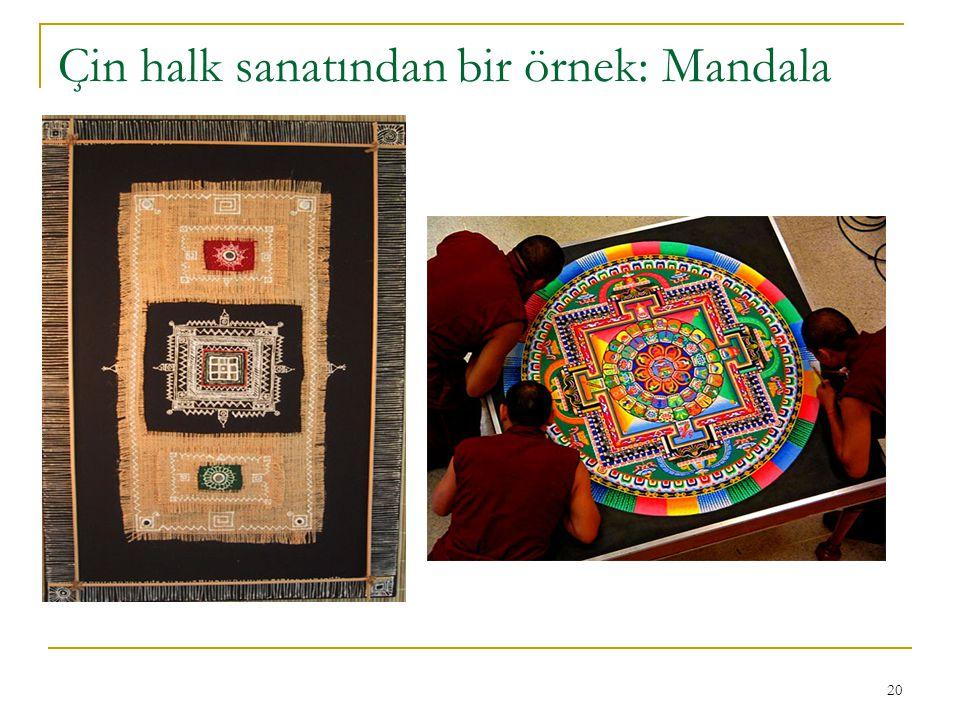Çin halk sanatından bir örnek: Mandala