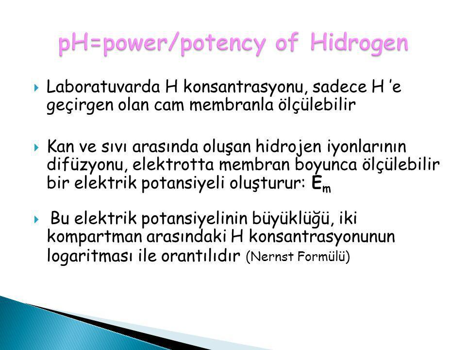 pH=power/potency of Hidrogen