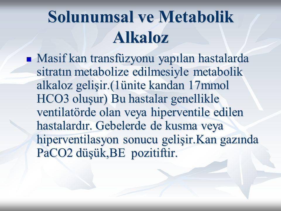 Solunumsal ve Metabolik Alkaloz