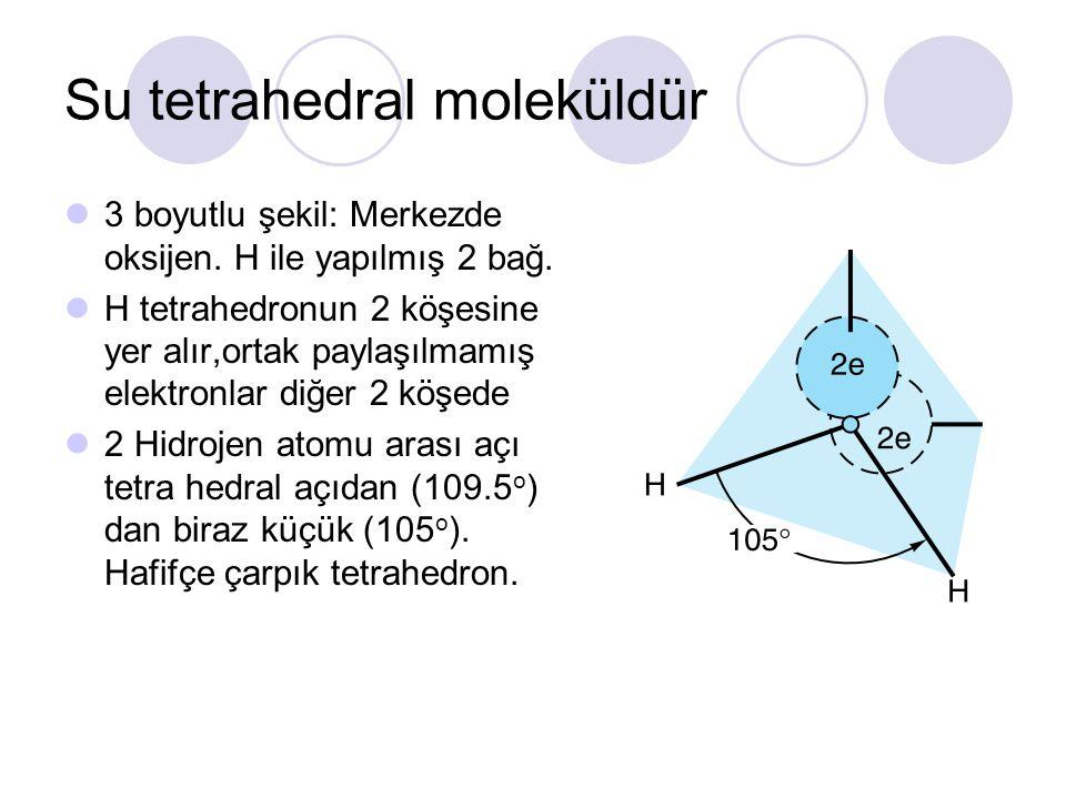 Su tetrahedral moleküldür