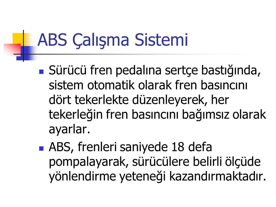 ABS Çalışma Sistemi