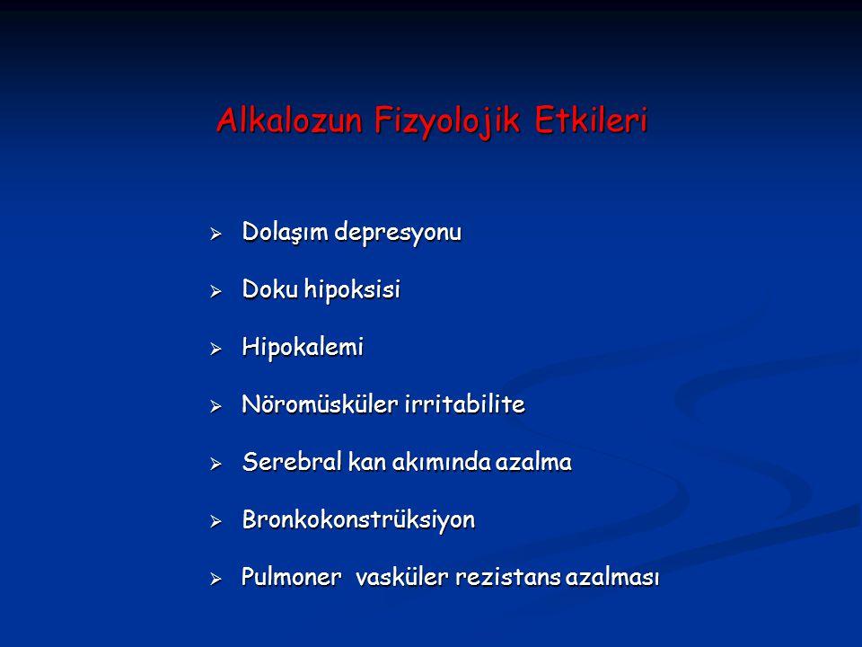 Alkalozun Fizyolojik Etkileri