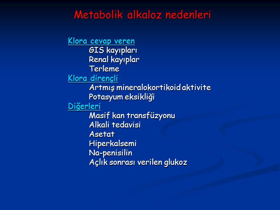 Metabolik alkaloz nedenleri