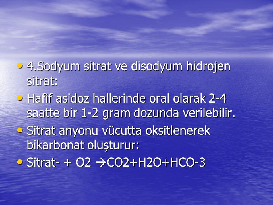 4.Sodyum sitrat ve disodyum hidrojen sitrat: