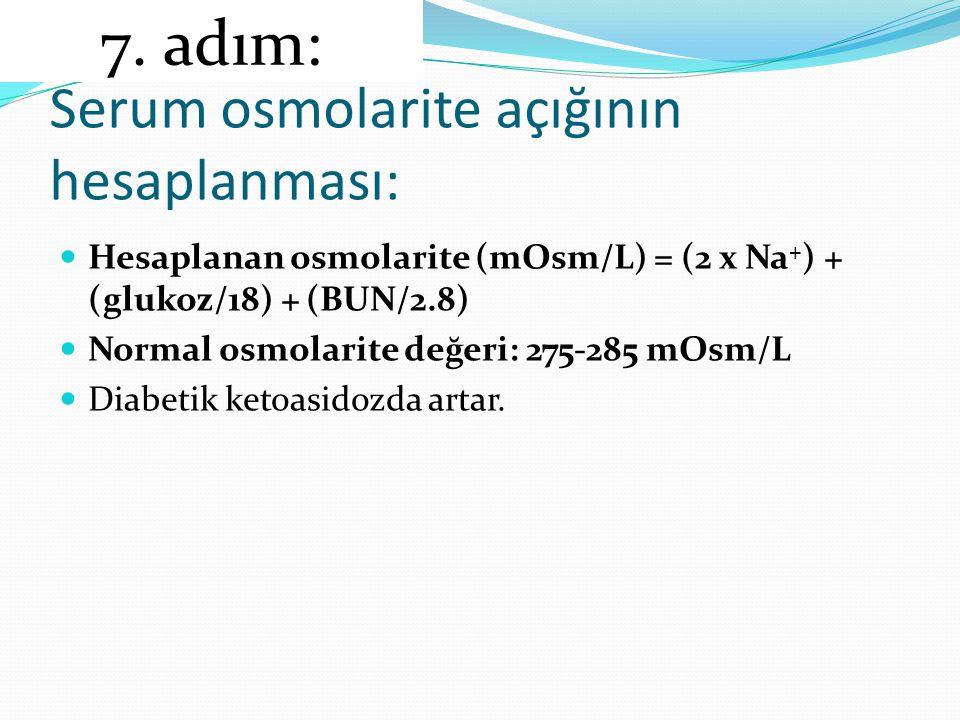 Serum osmolarite açığının hesaplanması: