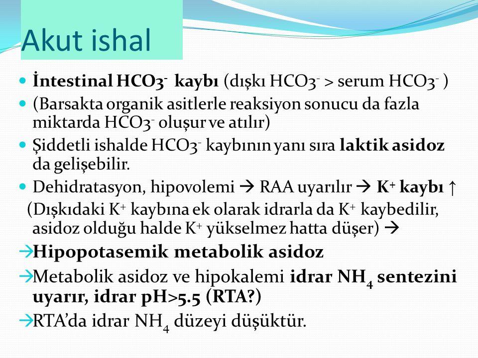 Akut ishal Hipopotasemik metabolik asidoz
