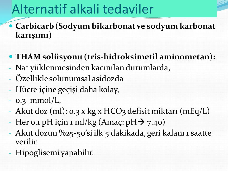 Alternatif alkali tedaviler