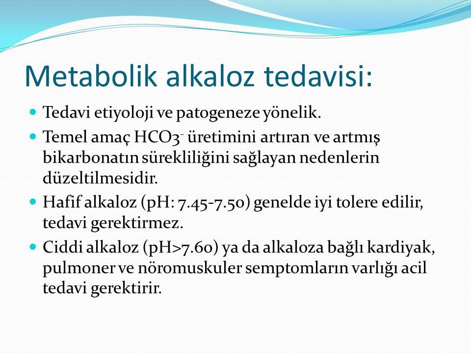 Metabolik alkaloz tedavisi:
