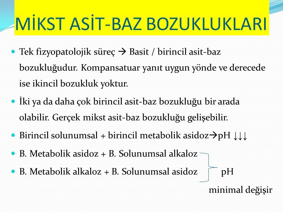 MİKST ASİT-BAZ BOZUKLUKLARI