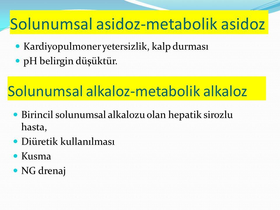 Solunumsal asidoz-metabolik asidoz