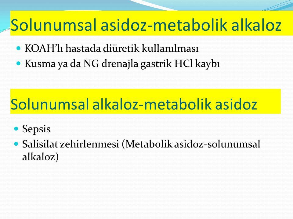 Solunumsal asidoz-metabolik alkaloz